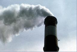 Industrial chimney pollution (smoke).