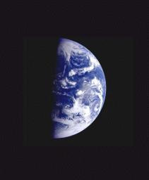 Earth from Gallileo satellite