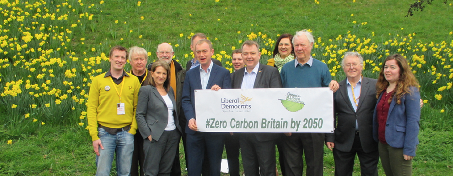 The Green Liberal Democrats (Graham Neale, Chair) Launch Carbon Free by 2050 with Tim Farron and Lynne Featherstone