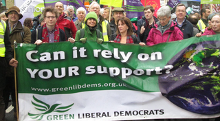 Green Lib Dems at 2015 Cimate Change March (steve.bolter@greenlibdems.org.uk)