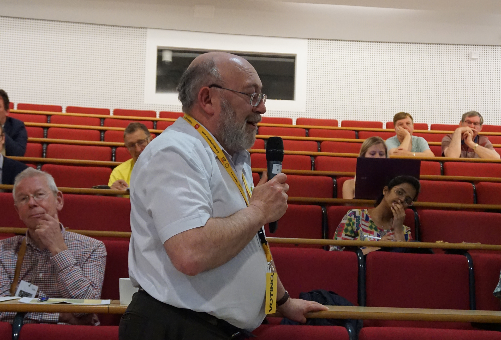 GLD Conference 2018 - Leon Duveen asking a question (KNDaws)