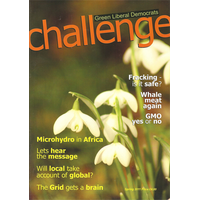 The front cover of the Spring 2011 Challenge Magazine (Green Liberal Democrats)