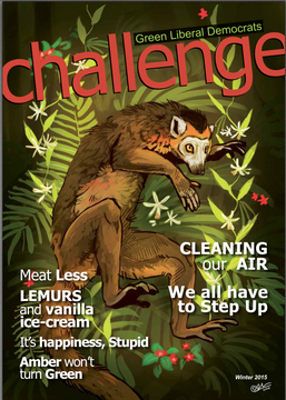 Challenge magazine 2015 Winter front cover from GLD (https://greenlibdems.org.uk/en/page/challenge-magazine)