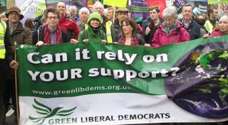 Green Lib Dems at 2015 Cimate Change March (steve.bolter@greenlibdems.org.uk)