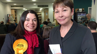 Sarah Olney and Caroline Lucas