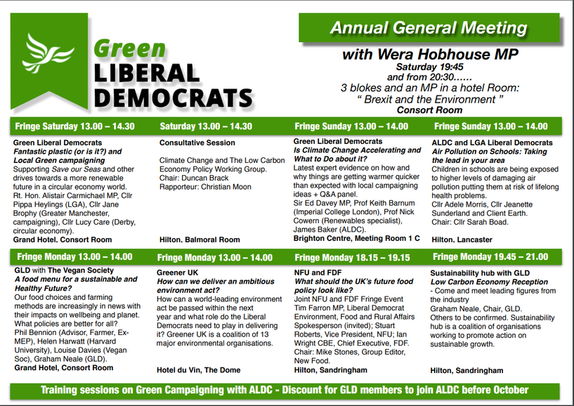 Green Events Brighton 2018 (GLD)