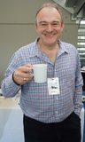 GLD Conference 2018 - Ed Davey enjoying a well earned cuppa (KNDaws)