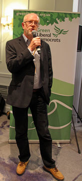 Duncan Brack speaking at the Sustainability Hub Reception (KNDaws)