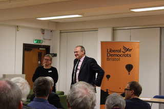 Ed Davey and Mary Page at Bristol Lib Dems November 2018 (greenlibdems.org.uk)