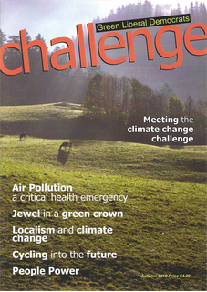 The front cover of the Autumn 2010 Challenge Magazine (Green Liberal Democrats)