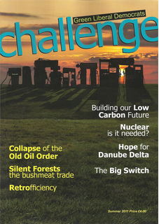 The front cover of the Summer 2011 Challenge Magazine (Green Liberal Democrats)