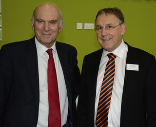 Vince Cable and Reg Shore