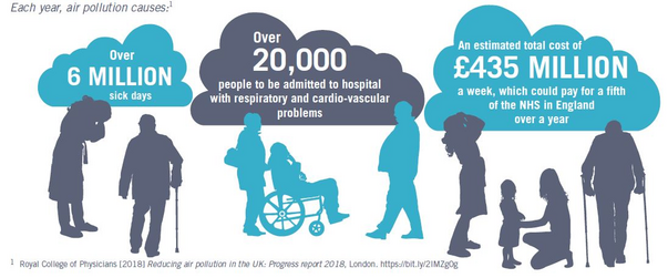 Air Pollution impact (Royal College of Physicians)