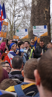 Wera Hobhouse at Lib Dem Rally - Stop Brexit March (Kevin Daws)