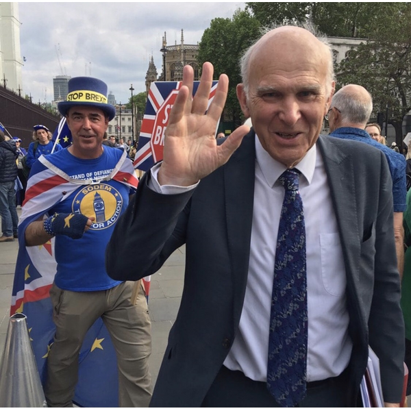 Steven Bray and Vince Cable (Chris Hatcher)