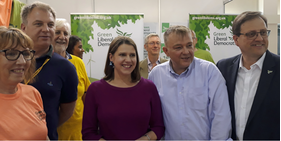 GLD Stall - visit from Jo Swinson (Kevin Daws)