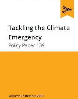 LibDem Climate Change policy Sept 2019