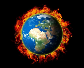 World on fire climate change 1