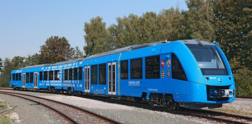 Alstom Prototype Hydrogen Cell Train Under Test (Alstom)