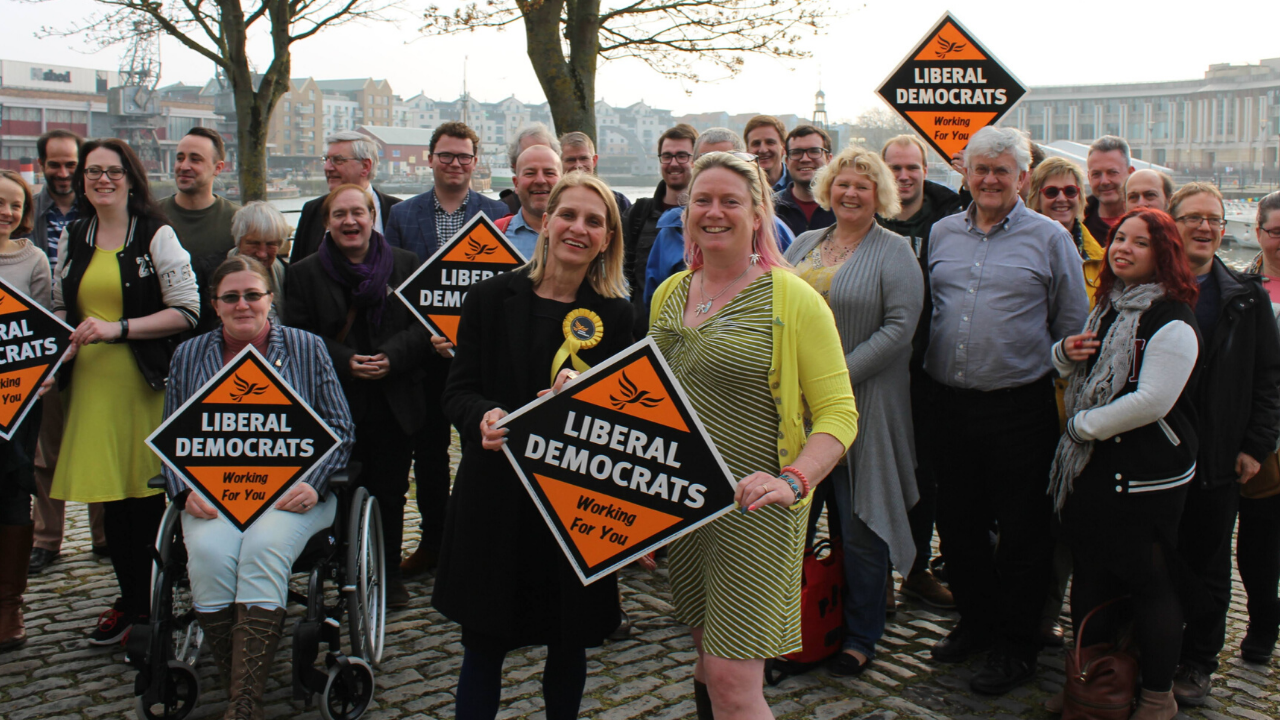 Bristol Lib Dems against airport expansion (Mary Page)