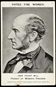 John Stuart Mill (wikimedia - Postcard_featuring_John_Stuart_Mill)