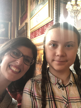 Layla Moran and Greta Thunberg
